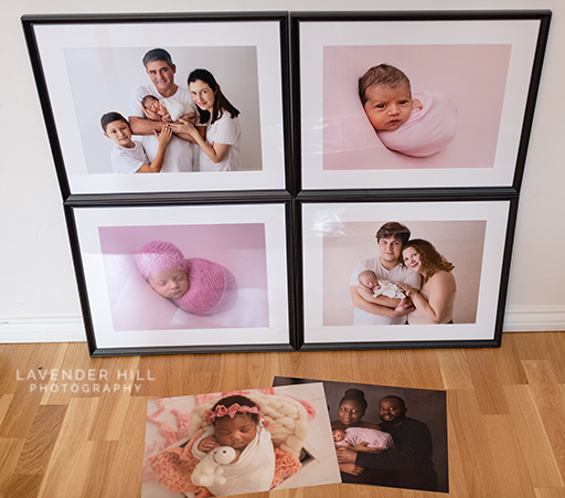 newborn photographer north east london, photo of beautiful wall art created by lavender hill photography